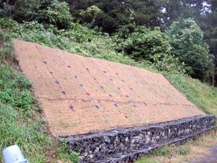 12.小面積における軟岩・硬質土壌の法面(仙台)