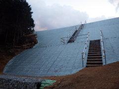 下関市風力発電所 管理道路崩壊補修工事(山口県)
